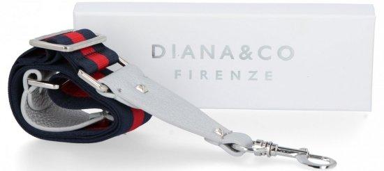 Popruh pro dámské kabelky Diana&Co Multicolor Stříbrný