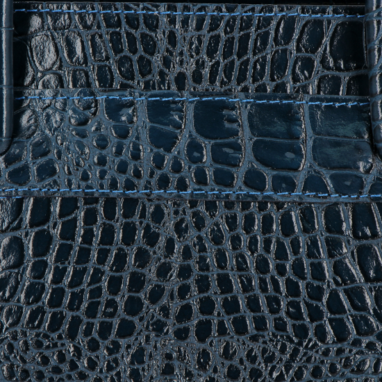Vittoria Gotti Klasyczne Torebki Skórzane we wzór Aligatora Aktówka A4 Granat