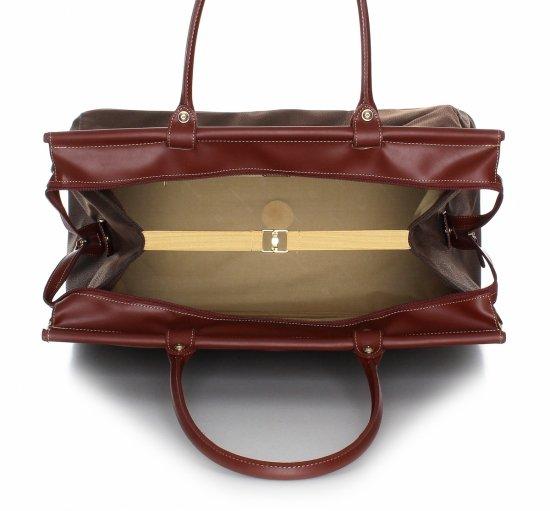 Solidna torba podróżna David jones Brązowa