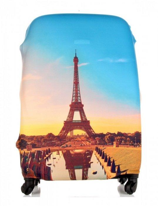 Pokrowiec na Walizkę firmy Snowball w rozmiarze M Paris Multikolor