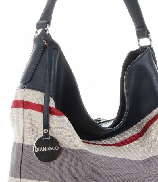 67089ad95ff1d Uniwersalne Torebki Damskie w paski marki Diana amp Co Multikolor Granatowa