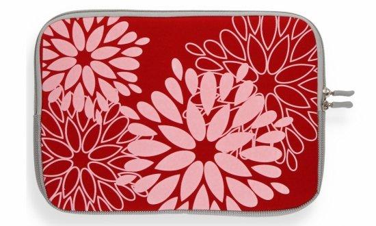 """Modne Etui na Tablet 10"""" wzór w kwiaty Czerwone"""