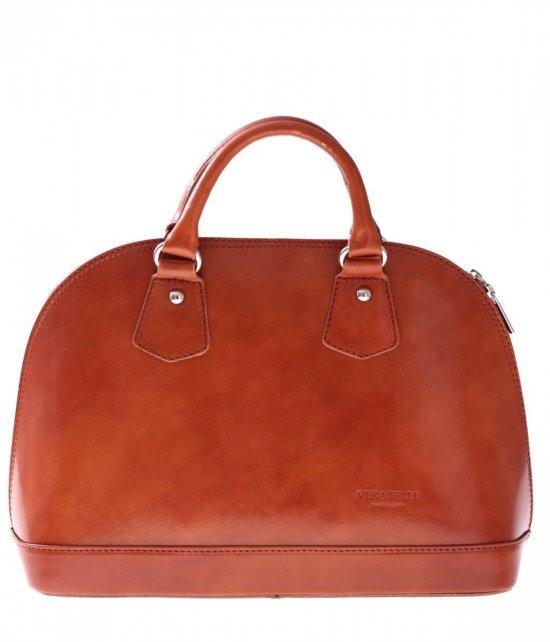 Torebka skórzana kufer Vera Pelle Rudy