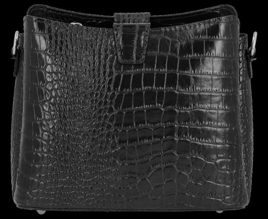 Eleganckie Torebki Skórzane Listonoszki firmy Vittoria Gotti w motyw Aligatora Czarna