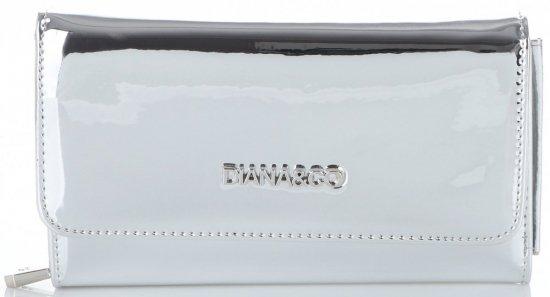c3991245b3e1c Ekskluzywny Lakierowany Portfel Damski Diana amp Co Firenze Srebrny Metalik