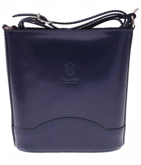 Elegantný kožený poštár Vera Pelle Tmavo modrá