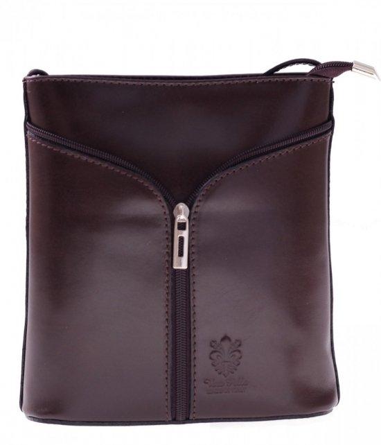 Kožená taška na messenger vyrobená v talianskej čokoláde