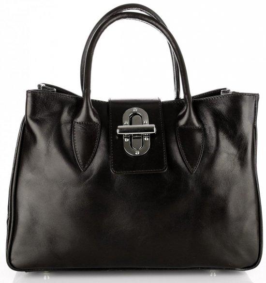 Taška Kožená taška vyrobená v Taliansku Čierna