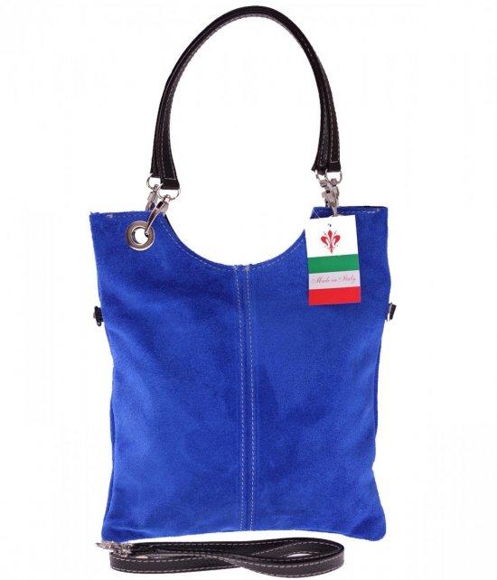 Poštové kožené tašky sú modré