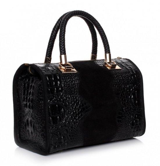 Elegantné kožené puzdro aligátor čierne