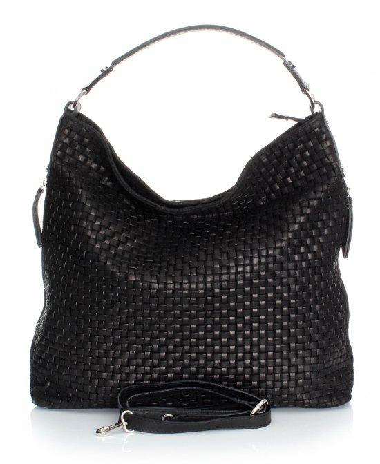 Univerzálna a príležitostná Kožená taška čierna