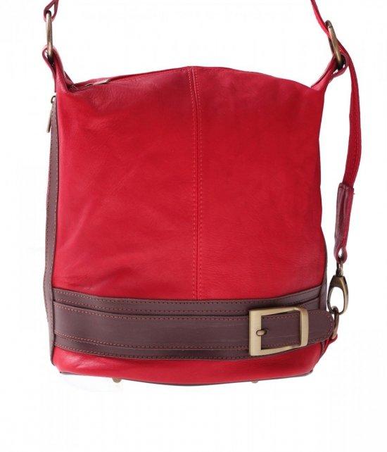 Bag Batoh Mäkká Pravá Koža Červená