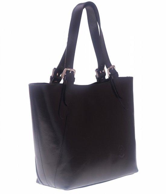 Kožená taška univerzálna a príležitostná Čierna