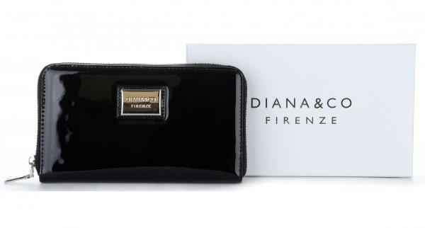 c3daf78e336 Dámská peněženka XXL Diana Co Firenze lak černá - Panikabelkova.cz