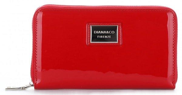 2b050424af2 Dámská peněženka XXL Diana Co Firenze lak červená - Panikabelkova.cz