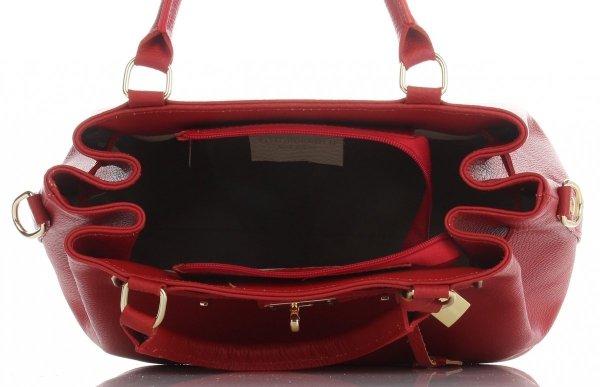 45a1750859b9d Vittoria Gotti Firmowy Kuferek Skórzany Made in Italy Czerwony ...