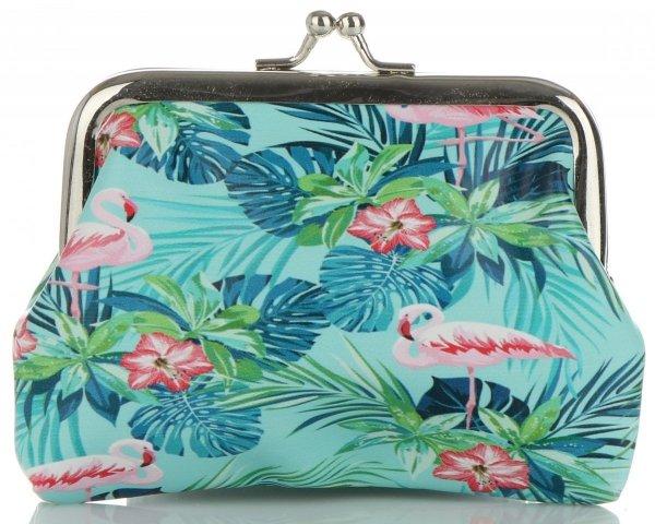 557f29f01e9f5 Modne Portmonetki Damskie firmy David Jones Multikolor Flamingi &  Tropikalne Wzory