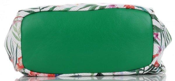46d5ec44d05a0 Modne Torebki Damskie w tropikalne wzory Silvia Rosa Mulltikolor Zielona