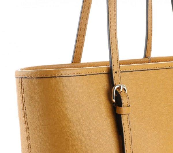2961a6180947d Klasyczne Torebki Skórzane Genuine Leather Musztardowa ...