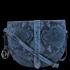 Kožená Kabelka Listonoška Vittoria Gotti Hadí Vzor Jeans