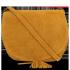 Vittoria Gotti Kožená kabelka listonoška Hořčičná
