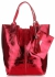 Kožené kabelky Shopper bag Lakované Červená