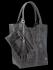 Uniwersalna Torebka Skórzana XL Shopper Bag w motyw zwierzęcy firmy Vittoria Gotti Szara