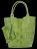 Włoskie Torebki Skórzane Shopper Bag w motyw aligatora firmy Vittoria Gotti Jasno Zielona