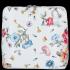 Vittoria Gotti Firmowa Listonoszka Skórzana Made in Italy we wzór kwiatów Biała Folk