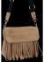 Modna Listonoszka Skórzana z Frędzlami firmy Vittoria Gotti Ziemista