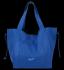 Vittoria Gotti Włoska Torebka Skórzana Shopper Bag z Kosmetyczką Kobaltowa