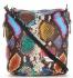 Vittoria Gotti Firmowa Listonoszka Skórzana Made in Italy w modny wzór Węża Multikolorowa