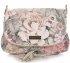 Modna Listonoszka Skórzana Vittoria Gotti w Kwiaty Multikolor Beżowa