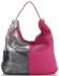 Włoska Uniwersalna Torba Skórzana w rozmiarze XL w modne wzory Fuksjowa