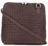 Mała Włoska Torebka Skórzana Listonoszka firmy Genuine Leather Brązowa