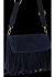Modna Listonoszka Skórzana z Frędzlami firmy Vittoria Gotti Granat