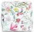 Vittoria Gotti Firmowa Listonoszka Skórzana Made in Italy we wzór kwiatów Biała