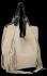Modne Torebki Skórzane Shopper Bag z Frędzlami firmy Vittoria Gotti Beżowa