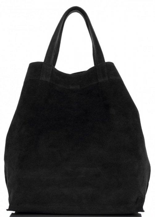 0e5864e8bd Univerzální Dámské kabelky ShopperBag XL Vera Pelle černá ...