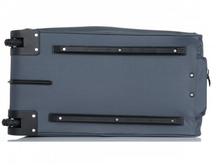Duża Torba Podróżna XL renomowanej firmy Madisson na kółkach ze stelażem Szara