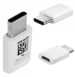 NOWY ORYGINALNY ADAPTER SAMSUNG micro usb - typ c  GH98-40218A ( USB-C biały)