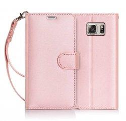 FYY Samsung Galaxy S7 Edge - Etui book case ze smyczką (rose gold)