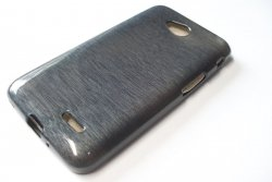 Metalic Jelly Cover Brushed - etui silikonowe do LG L70 L65 (szary)