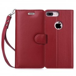 FYY Etui book case ze smyczką - iPhone 7+/8+ (5.5) (red wine)