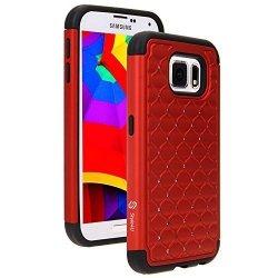 ETUI CASE DUAL LAYER Zirconia- Samsung Galaxy S6 (czerwony)