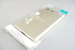 MERCURY iJELLY METAL - ETUI BACK COVER SONY XPERIA X COMPACT (metalic-gold)