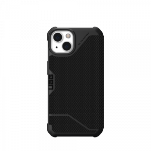 UAG Metropolis - obudowa ochronna z klapką do iPhone 13 (kevlar - czarna)