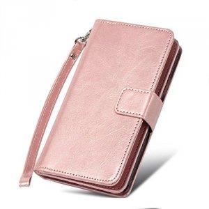 FYY Samsung Galaxy NOTE 3 - Etui book case ze smyczką i miejscem na 9 kart (pink)