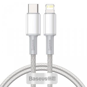 BASEUS DATA PD20W TYPE-C TO LIGHTNING CABLE 200CM WHITE