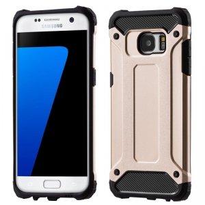 Hybrid Armor pancerne hybrydowe etui pokrowiec Samsung Galaxy S7 Edge G935 złoty